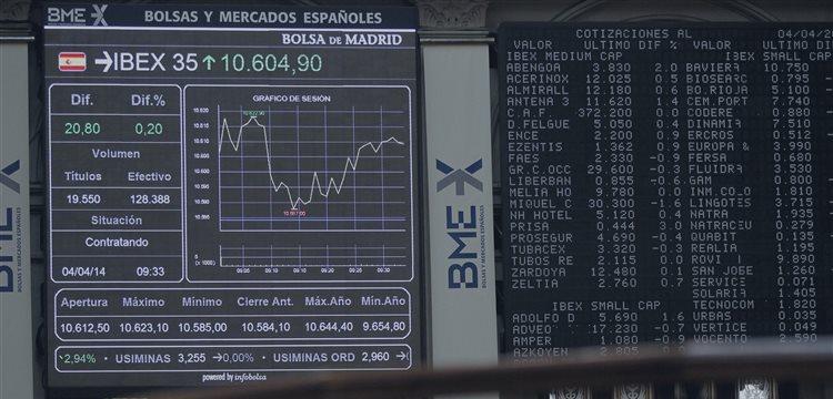 El Ibex-35 abre con recortes a la espera del BCE