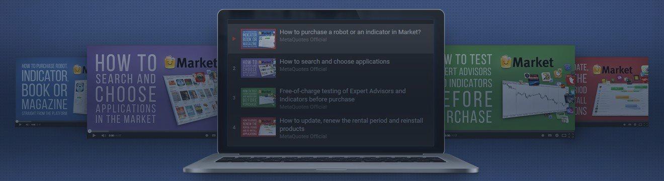 4 Novos Vídeos Sobre como Comprar e Alugar os Robôs de Negociação do Mercado