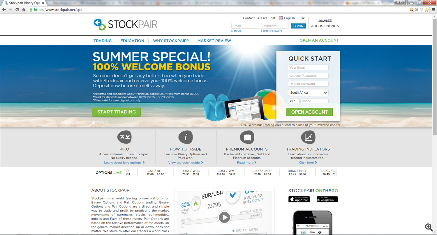 stockpair trading