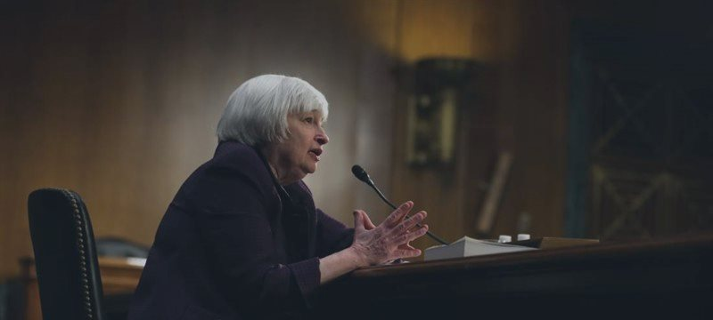 Dollar surges, gold drops as Yellen signals rate hike possible this year, points to inflation