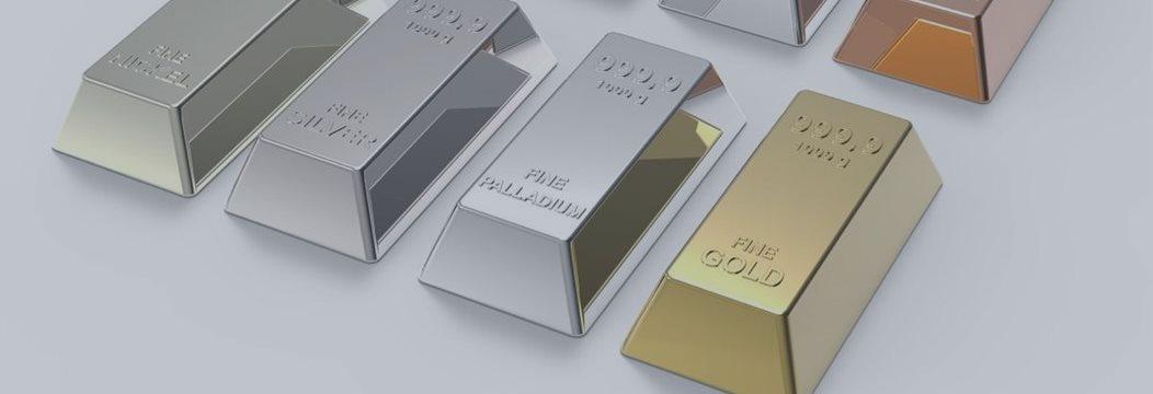 Золото на двухнедельных минимумах, платина падает, палладий растет