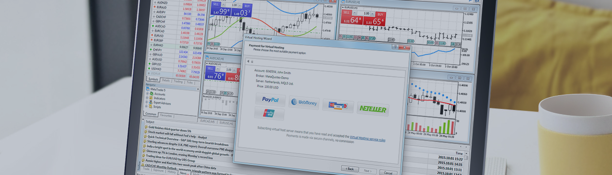 直接从MetaTrader 4支付虚拟主机和信号订阅!