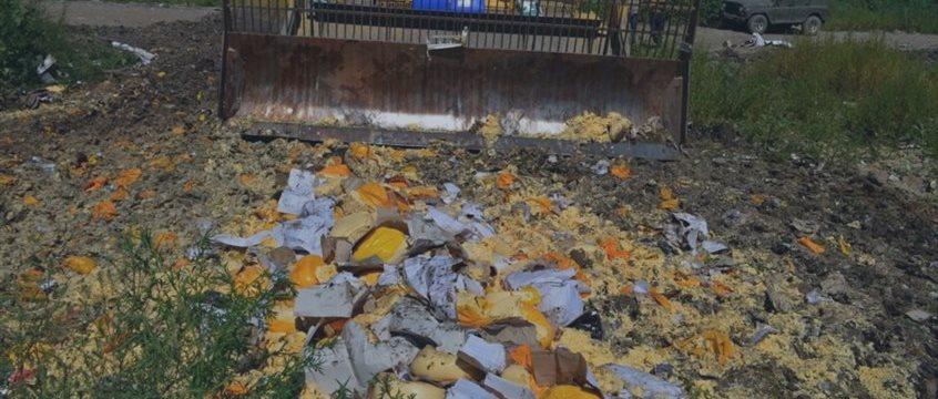 С августа в России уничтожили 766,876 санкционных продуктов