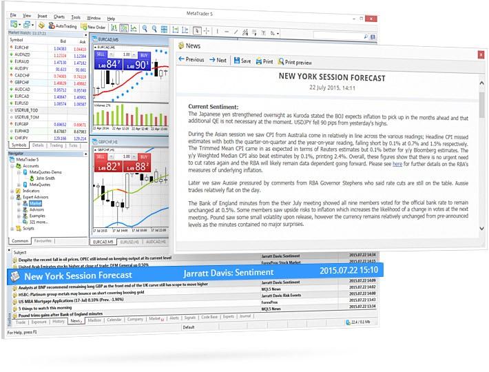MetaTrader 平台现已提供Jarratt Davis的FX News EDGE