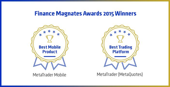2015 Finance Magnates Awards: las plataformas comerciales MetaTrader vencen en las nominaciones Mejor plataforma y Mejor producto móvil