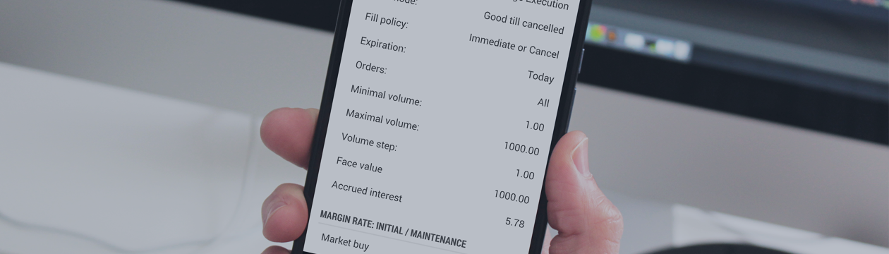 MetaTrader 5 Android build 1172:便利なチャートのスケーリングと債券プロパティ内の未収利息