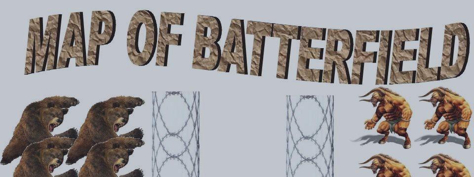 Mapa del la batalla, una forma divertida de ver el videojuego del mercado.