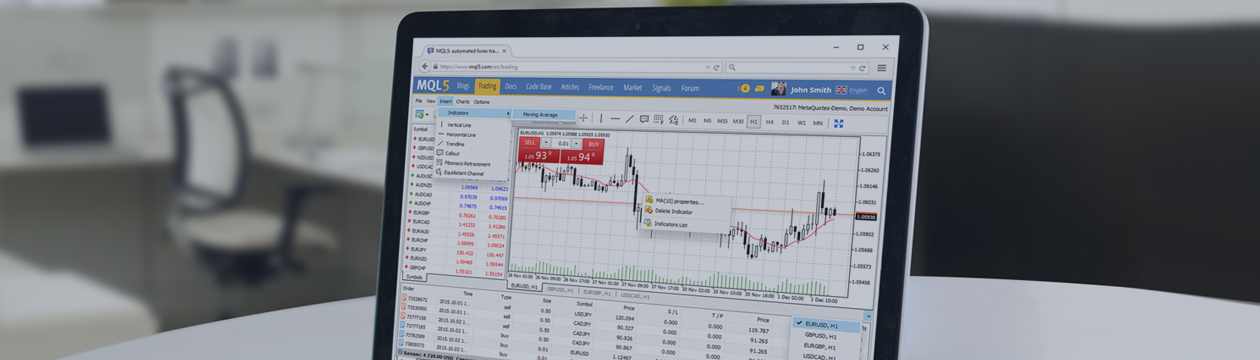 Updated MetaTrader 4 Web platform: support for technical indicators and 9 new languages