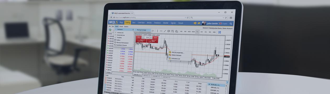 Atualização da plataforma Web MetaTrader 4: suporte para indicadores técnicos e 9 novos idiomas