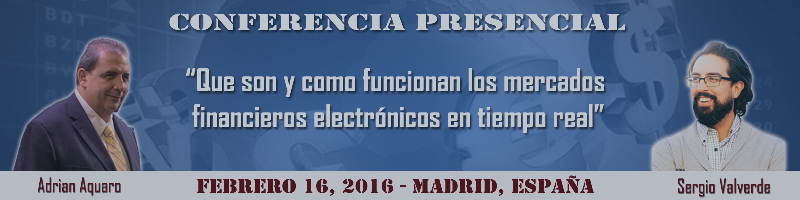 """Conferencia """"Que son y como funcionan los mercados financieros electrónicos en tiempo real"""""""