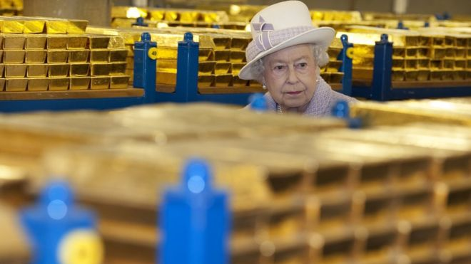 How much gold is there in London