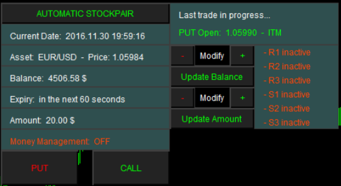 DASHBOARD AUTOMATIC STOCKPAIR