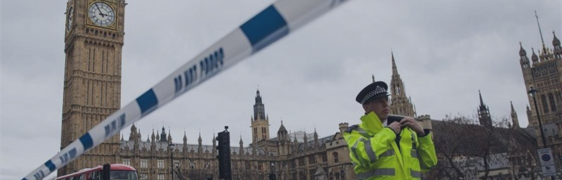 Terror attack near British Parliament in London.