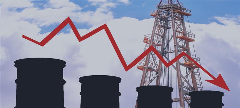 Цены на нефть снизились из-за роста американских запасов сырья, а также увеличения добычи странами ОПЕК