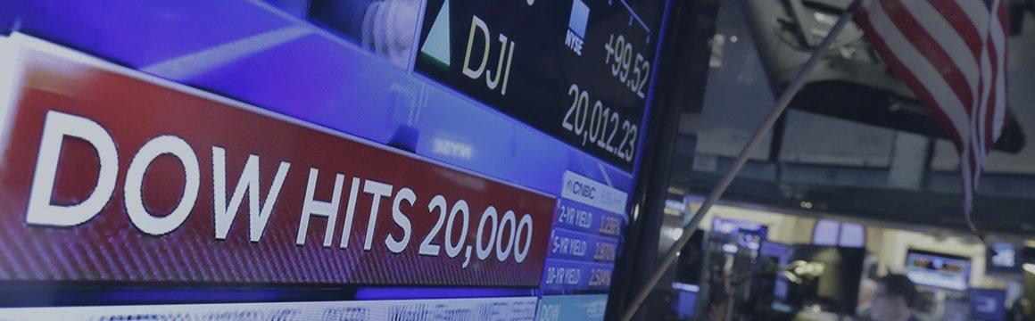Индекс Dow Jones 30 впервые поднялся выше 22 000