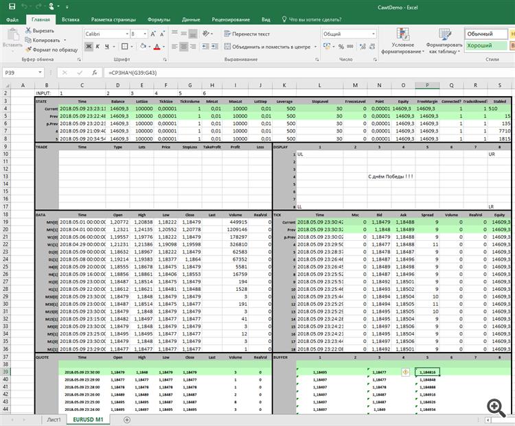 ATcl - Cawt Excel