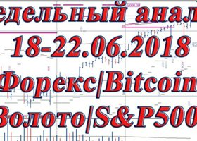 № 154 Недельный анализ 18-22.06.2018 Форекс|Bitcoin|Золото|S&P500|Нефть|Ethereum