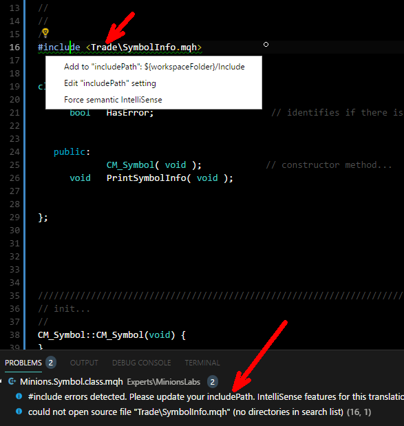 #include error detected.