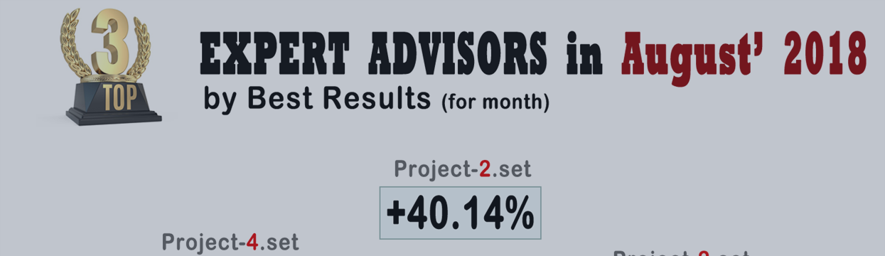 TOP-3: Rating of the Best Forex Robots for August-2018: