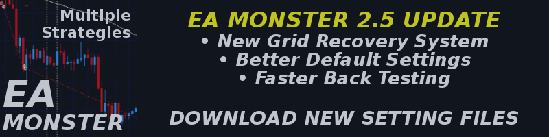 EA MONSTER 2.7 FOREX EXPERT ADVISOR MT4 TRADING ROBOT HUGE UPDATE AVAILABLE NOW WITH A NEW FOREX TRADING STRATEGY