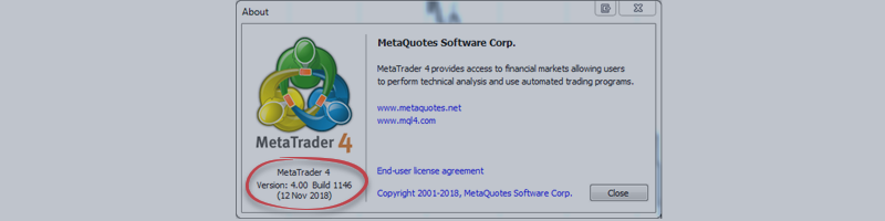 How to update MetaTrader 4 the last version