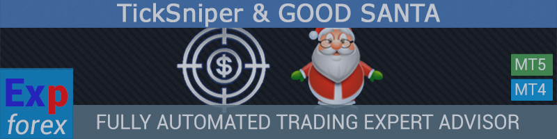 TickSniper and GOOD SANTA Automatic trading EA-scalper. With auto optimization of parameters