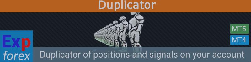 Duplicator - Дублирование сигналов и позиций на торговом аккаунте