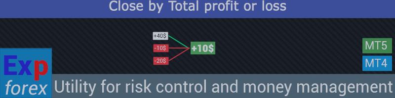 CloseIfProfitorLoss with Trailing Контроль прибыли или убытка с трейлингом прибыли. Закрытие по общей прибыли