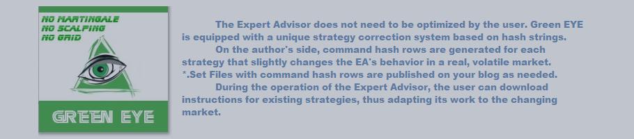 Green EYE Expert Advisor - HASH-Strategies description