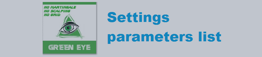 Green EYE settings list