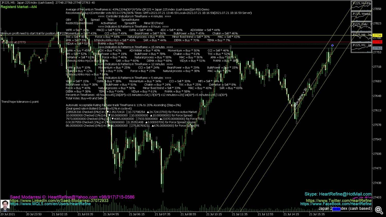 Japan 225 index (cash based)