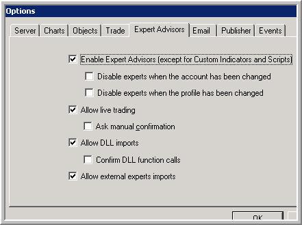 Error en generar ea con forex expert adivisor