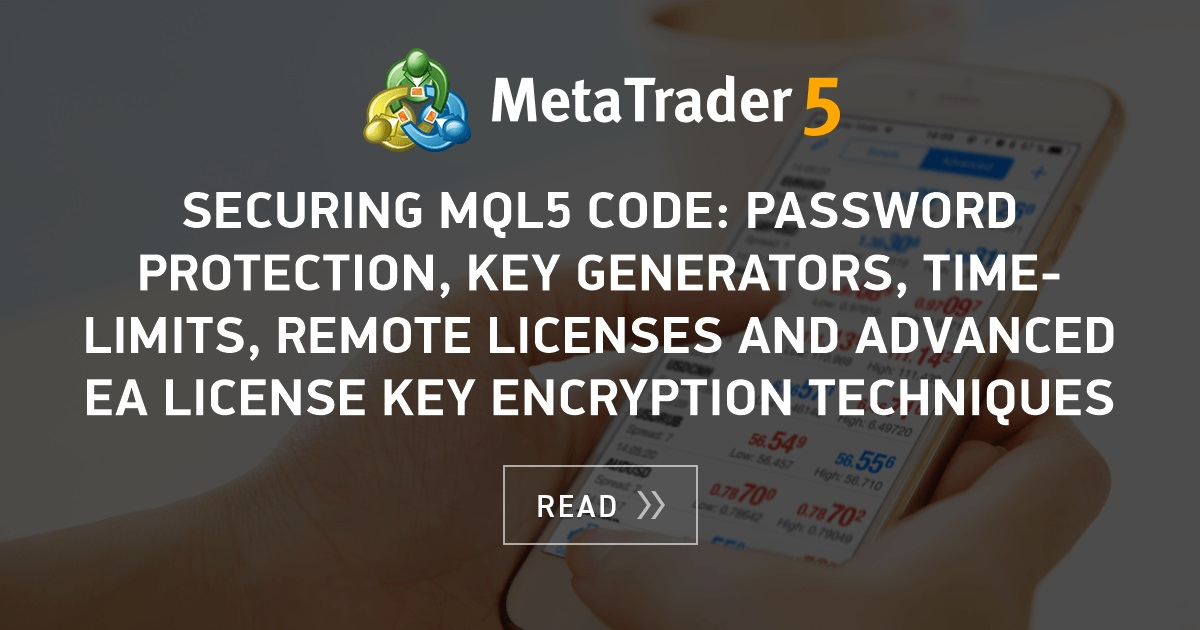 Securing MQL5 code: Password Protection, Key Generators, Time-limits