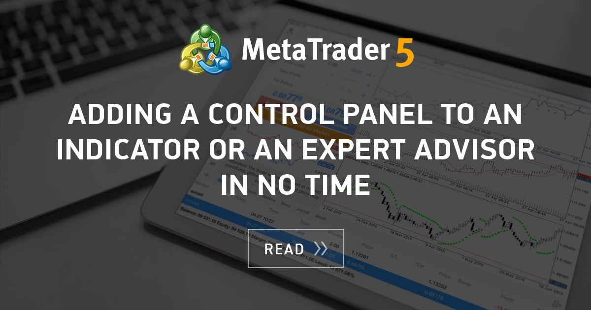 Adding A Control Panel To An Indicator Or An Expert Advisor In No