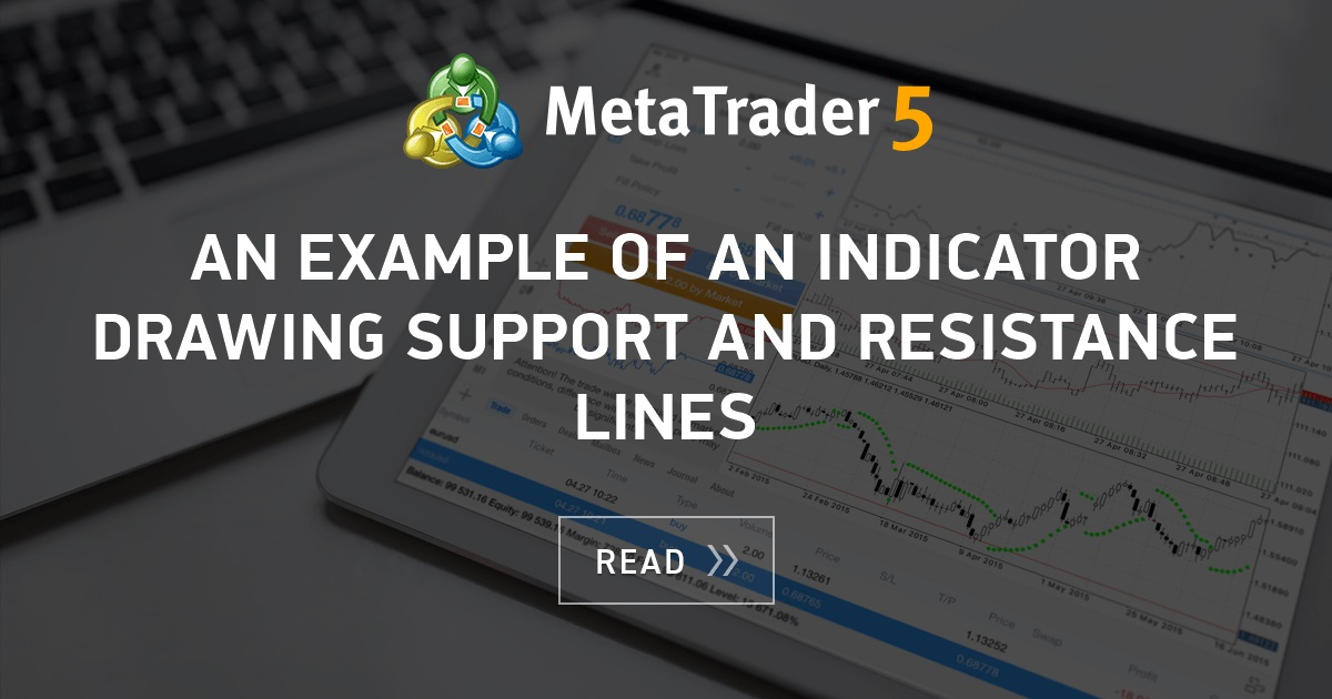 An Example Of An Indicator Drawing Support And Resistance Lines