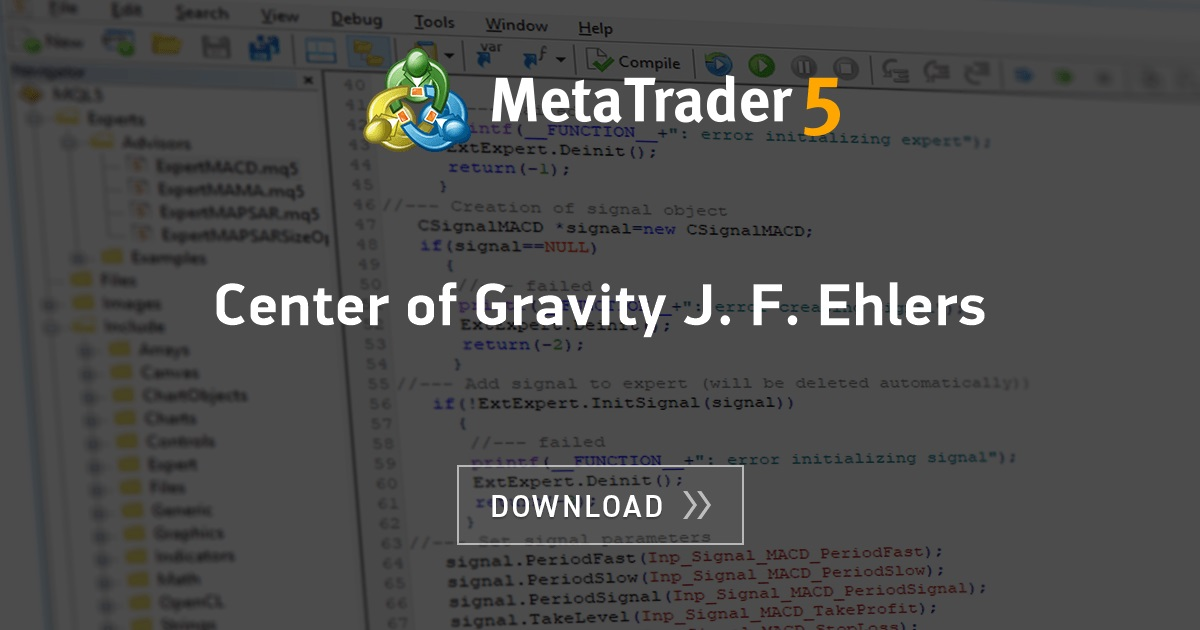 Free Download Of The Center Of Gravity J F Ehlers Indicator By