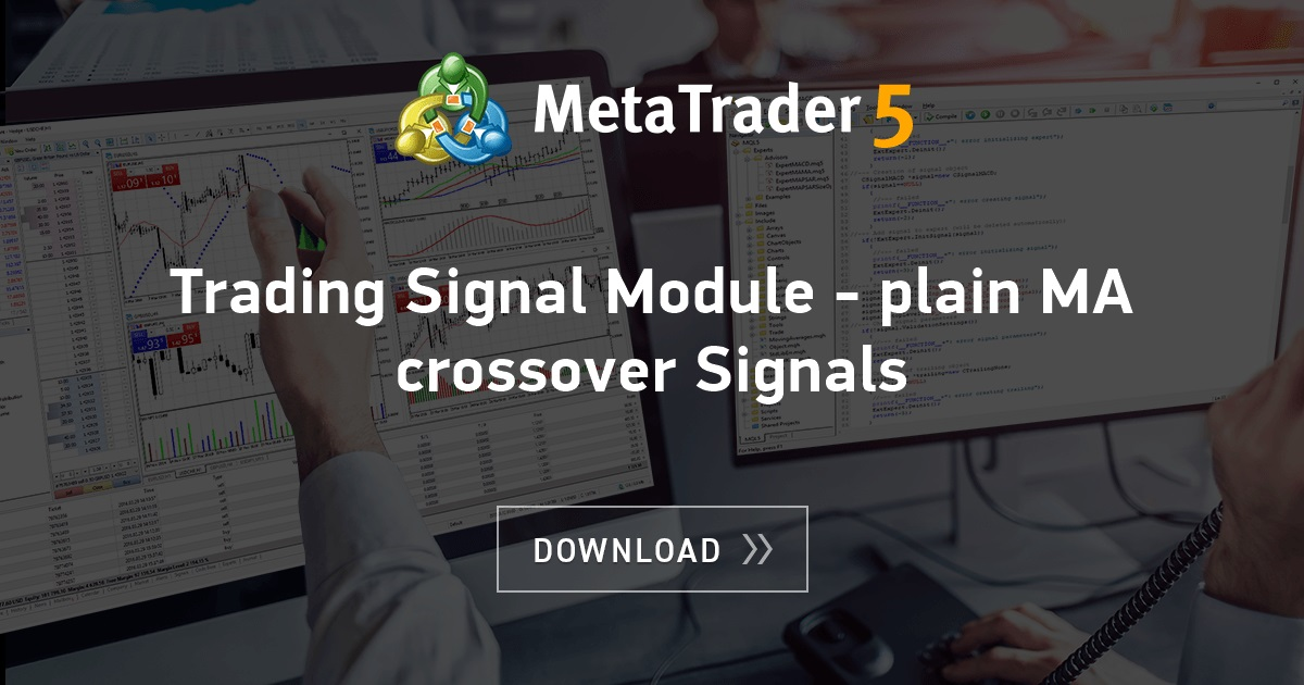 Free download of the 'Trading Signal Module - plain MA