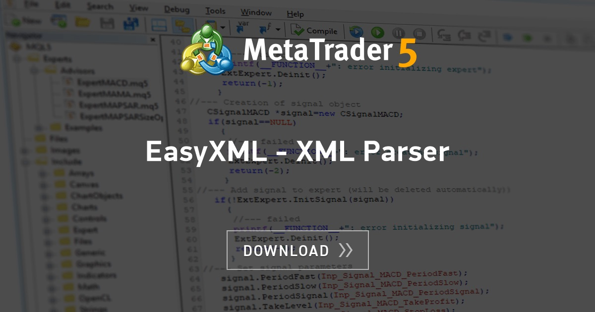 Free download of the 'EasyXML - XML Parser' library by