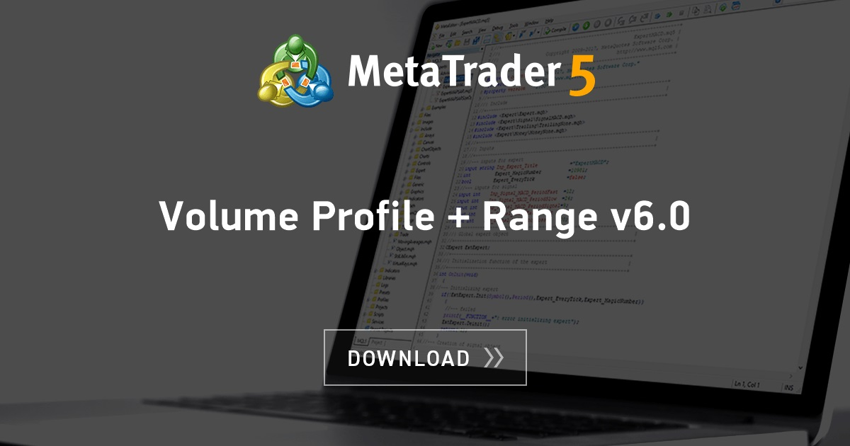 Free download of the 'Volume Profile + Range v6 0' indicator by