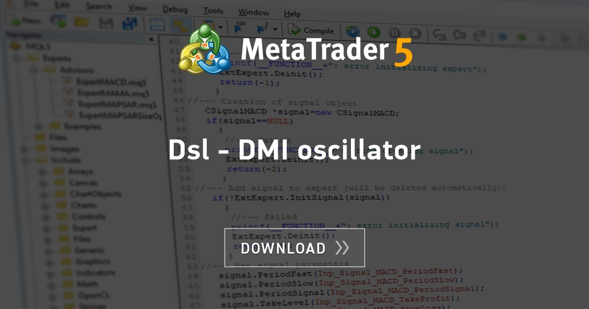 Free Download Of The Dsl Dmi Oscillator Indicator By Mladen