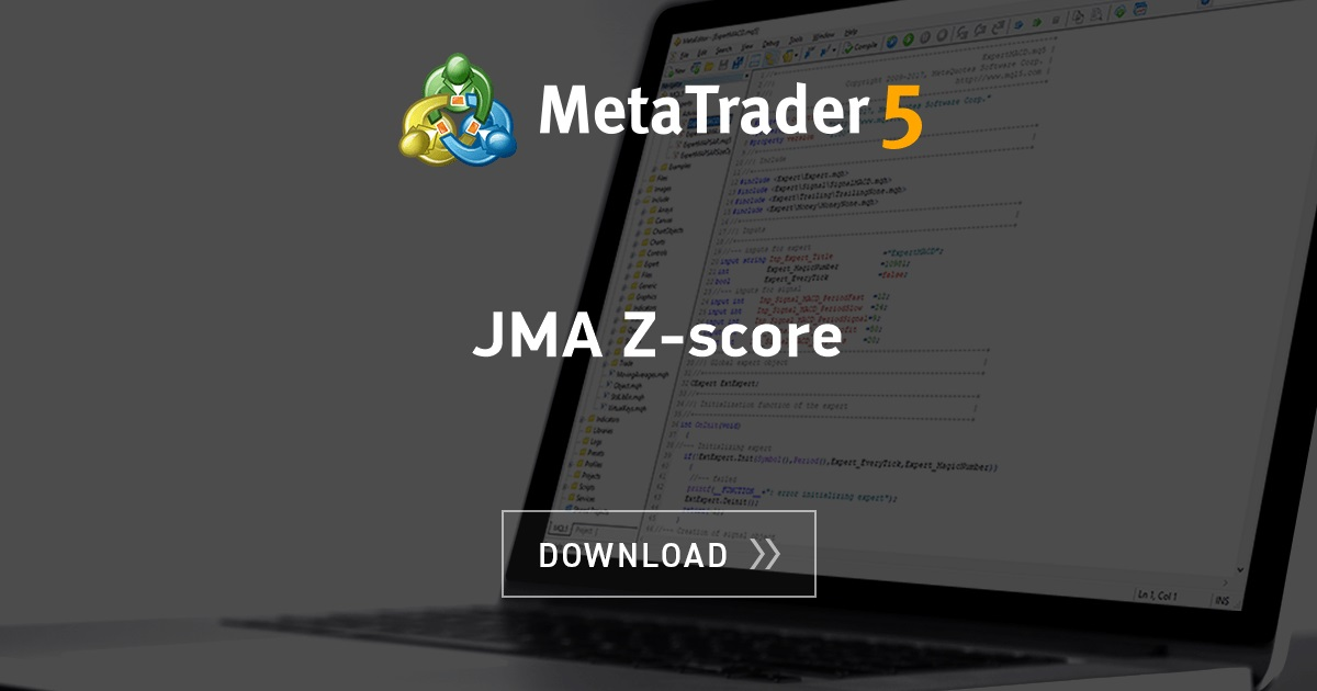 Free download of the 'JMA Z-score' indicator by 'mladen' for