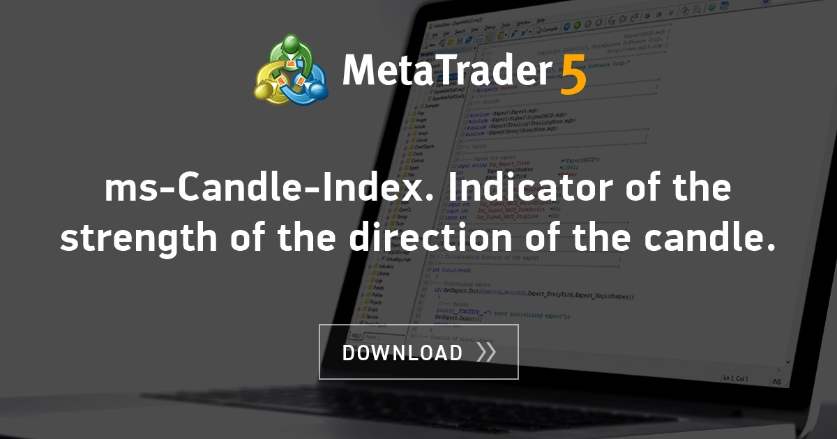Free download of the 'ms-Candle-Index  Indicator of the