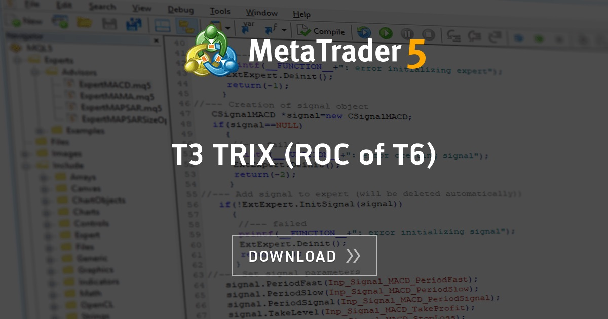 Free Download Of The T3 Trix Roc Of T6 Indicator By Scriptor