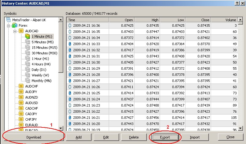 Newbie Question :) Saving MT4 data  - Symbols - MQL4 and