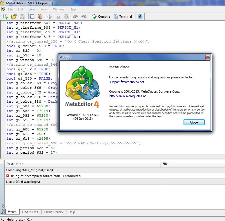 Convert ex4 to mq4 software forex