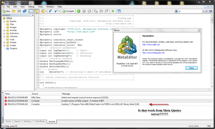 All meta editor work with this build 616 ..So How can i be back to the last version???