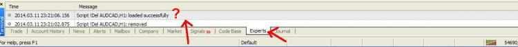 Experts Tab