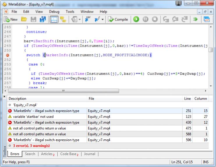 MQL4程序的常见错误以及如何避免它们