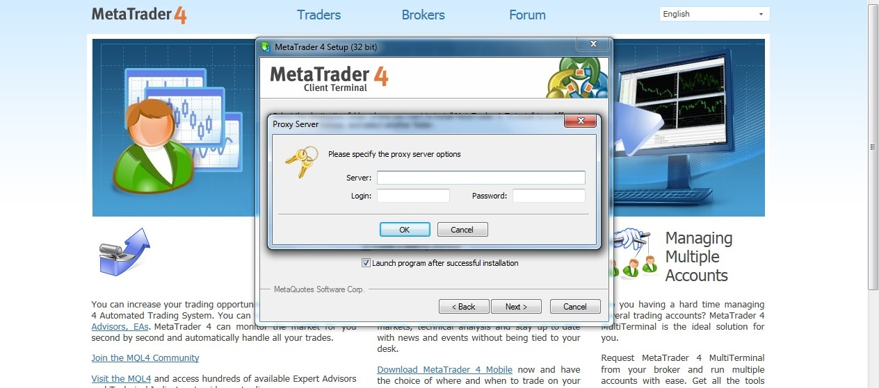 Help!! How to install the MT4 client - MT4 - MQL4 and MetaTrader 4