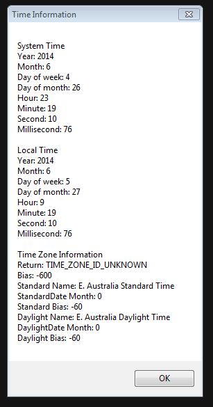 TimeCallsScript Output